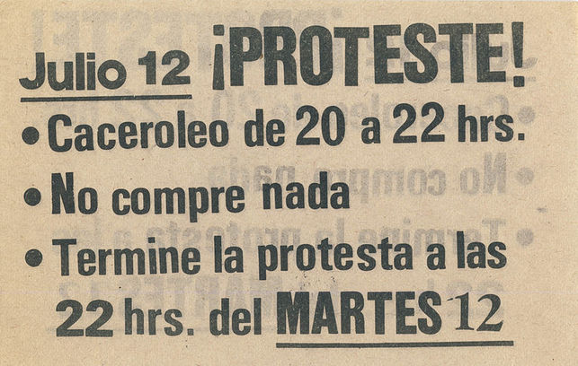 Llamada a la protesta en Chile, 1983